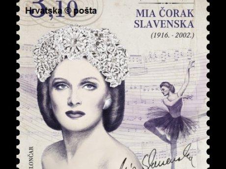 Poštanska marka  Mia Čorak Slavenska