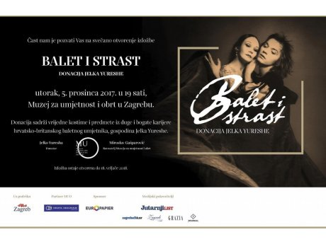 Poziv na izložbu Balet i strast - donacija Jelka Yureshe